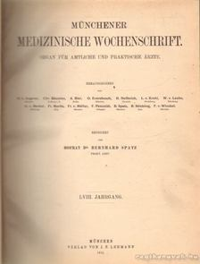 Münchener Medizzinische Wochenschrift LVIII. Jahrgang [antikvár]