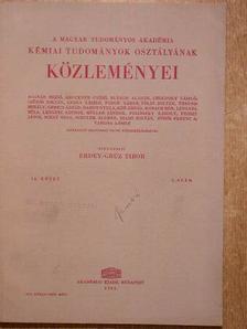 Bognár János - A Magyar Tudományos Akadémia Kémiai Tudományok Osztályának Közleményei 1961. [antikvár]