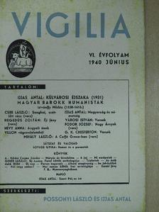 Cser László - Vigilia 1940. június [antikvár]