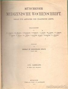 Münchener Medizzinische Wochenschrift LVII. Jahrgang (II. Hälfte) [antikvár]