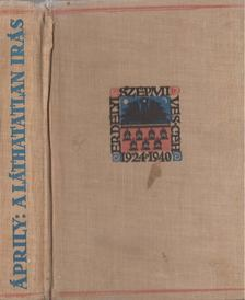 Áprily Lajos - A láthatatlan írás [antikvár]
