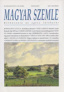 Gróh Gáspár - Magyar Szemle 2017. október [antikvár]