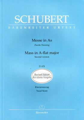 Franz Schubert - MESSE IN AS ZWEITE FASSUNG D 678 KLAVIERAUSZUG URTEXT, REVIDIERTE AUSGABE (ANDREAS KÖHS)