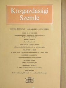 Ábel István - Közgazdasági Szemle 1991. július-augusztus [antikvár]