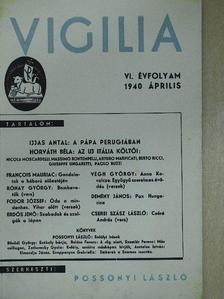 Asztalos István - Vigilia 1940. április [antikvár]