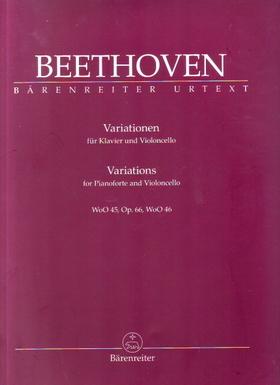BEETHOVEN - VARIATIONEN FÜR KLAVIER UND VIOLONCELLO WoO 45, OP.66, WoO 46 URTEXT (JONATHAN DEL MAR)