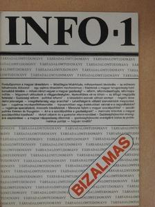 Bogár László - Info-Társadalomtudomány 1987. március [antikvár]