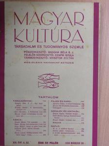 Bangha Béla S. J. - Magyar Kultúra 1934. március 20. [antikvár]