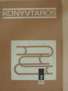 Bánhegyi Gyuláné - Könyvtáros 1978. február [antikvár]