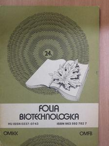 Fekete Sándor - Folia Biotechnologica 24. [antikvár]