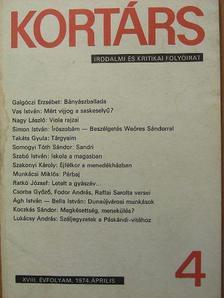Ágh István - Kortárs 1974. április [antikvár]