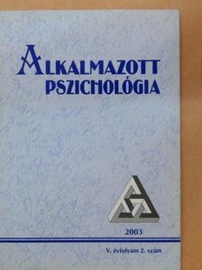Balogh László - Alkalmazott Pszichológia 2003/2. [antikvár]