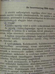 """Sebestyén Árpád - """"A nyelv területi tagolódása és társadalmi rétegződése"""" témakör tantervi helyzetéről [antikvár]"""