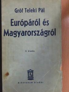gróf Teleki Pál - Európáról és Magyarországról [antikvár]
