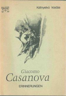 CASANOVA GIACOMO - Erinnerungen - Visszaemlékezések (Cecilia, Marina, Bellino) [antikvár]