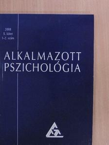 Czeglédi Edit - Alkalmazott pszichológia 2008/1-2. [antikvár]
