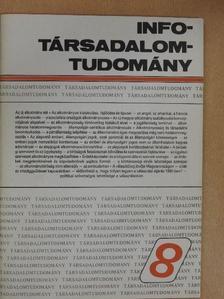Ádám Antal - Info-Társadalomtudomány 1989. március [antikvár]