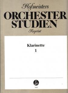 HOFMEISTERS ORCHESTER STUDIEN REPRINT KLARINETTE 1