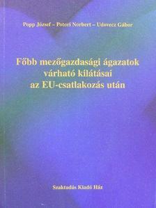 Popp József - Főbb mezőgazdasági ágazatok várható kilátásai az EU-csatlakozás után [antikvár]
