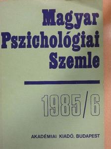 Bárkán György - Magyar Pszichológiai Szemle 1985/6. [antikvár]