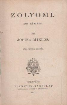 Jósika Miklós - Zólyomi. [antikvár]