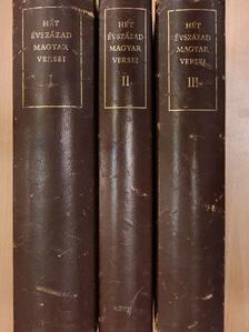 Medgyes Lajos - Hét évszázad magyar versei I-III. [antikvár]