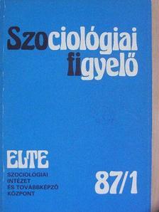 Benkő Zsuzsanna - Szociológiai figyelő 1987/1. [antikvár]