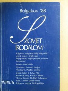 Benedek Árpád - Szovjet Irodalom 1988/6. [antikvár]