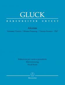 GLUCK, - ALCESTE. VERSIONE VIENNA 1767, KLAVIERAUSZUG