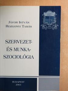 Jávor István - Szervezet- és munkaszociológia [antikvár]