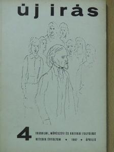 Csák Gyula - Új Írás 1967. április [antikvár]