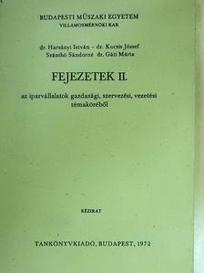 Dr. Harsányi István - Fejezetek az iparvállalatok gazdasági, szervezési, vezetési témaköréből II. [antikvár]