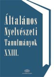 4000026593 - Általános nyelvészeti tanulmányok XXIII.