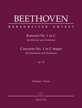 BEETHOVEN - KONZERT NR.1 IN C FÜR KLAVIER UND ORCHESTER OP.15 PARTITUR URTEXT (J. DEL MAR)
