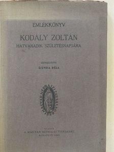 A. O. Väisänen - Emlékkönyv Kodály Zoltán hatvanadik születésnapjára [antikvár]