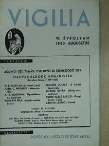 A. E. Housman - Vigilia 1940. augusztus [antikvár]