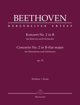 BEETHOVEN - KONZERT NR.2 IN B FÜR KLAVIER UND ORCHESTER OP.19. URTEXT PARTITUR