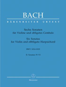 J. S. Bach - SECHS SONATEN FÜR VIOLINE UND OBLIGATES CEMBALO BWV 1014-1019 BAND II URTEXT (PETER WOLLNY)