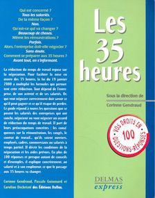 GENDRAUD, CORINNE - Les 35 heures [antikvár]