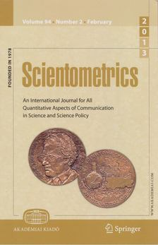 T. Braun - Scientometrics February 2013 (number 2) [antikvár]