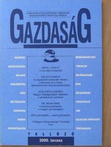 Antal László - Gazdaság 2000. tavasz [antikvár]