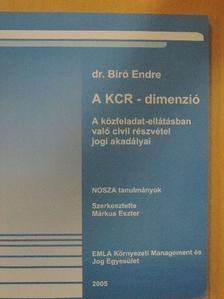 Dr. Bíró Endre - A KCR-dimenzió [antikvár]