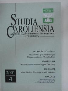 Albert de Pury - Studia Caroliensia 2001/4. [antikvár]