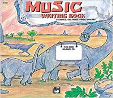 MUSIC WRITING BOOK 6 STAVES, WIDE SPACING