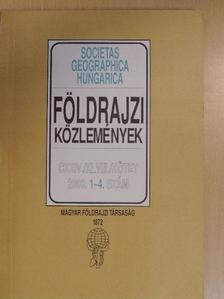 Burján Balázs - Földrajzi Közlemények 2000/1-4. [antikvár]