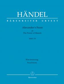 HAENDEL - DAS ALEXANDER-FEST HWV75 KLAVIERAUSZUG (AMELN)