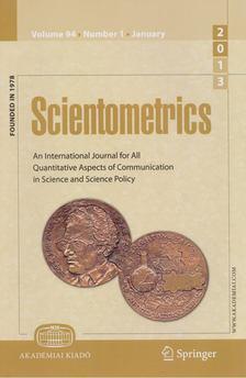 T. Braun - Scientometrics January 2013 (number 1) [antikvár]