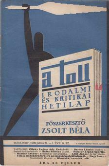 ZSOLT BÉLA - A toll I. évf. 14. sz. (1929. július 21.) [antikvár]