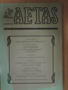 Bácskai Vera - Aetas 2001/3-4. [antikvár]