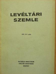 Balázs Péter - Levéltári Szemle 1976. május-december [antikvár]